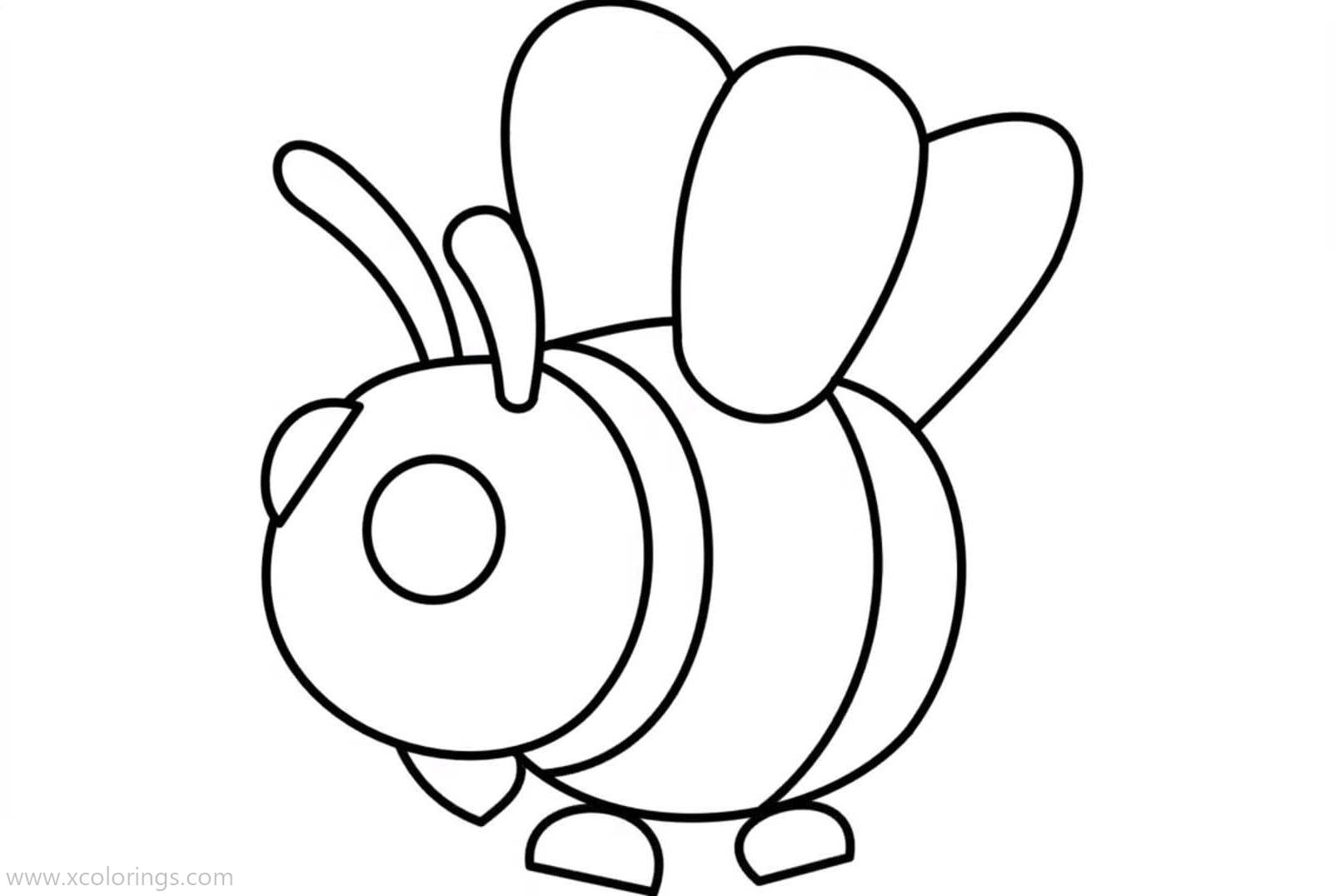 Roblox Adopt Me Coloring Pages Bee Xcolorings Com