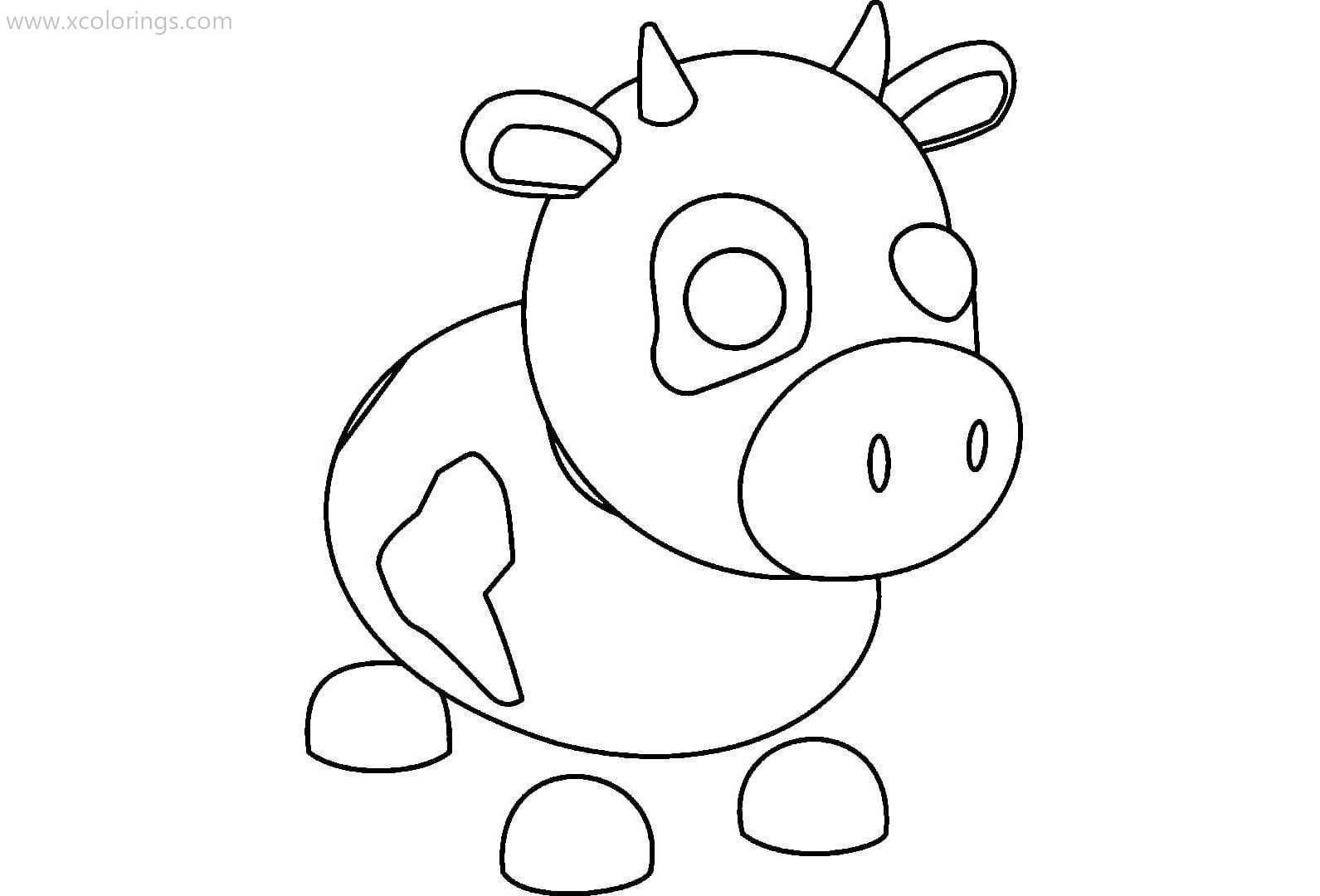 Roblox Adopt Me Coloring Pages Cow - XColorings.com