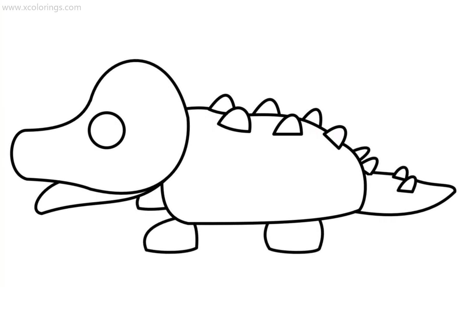 Roblox Adopt Me Coloring Pages Crocodile - XColorings.com