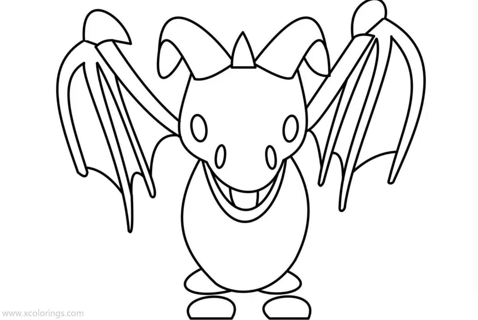 Roblox Adopt Me Coloring Pages Frost Dragon - XColorings.com