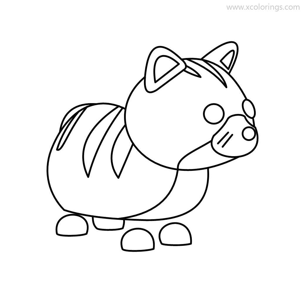 Roblox Adopt Me Coloring Pages Ginger Cat - XColorings.com