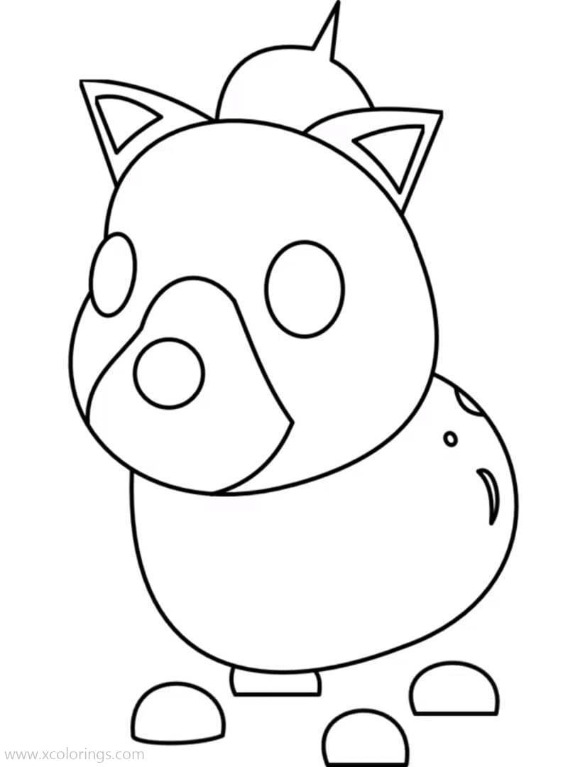Roblox Adopt Me Coloring Pages Hyena - XColorings.com