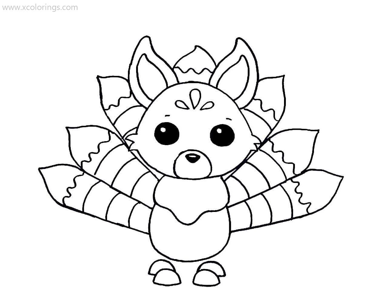 Roblox Adopt Me Coloring Pages Kitsune - XColorings.com