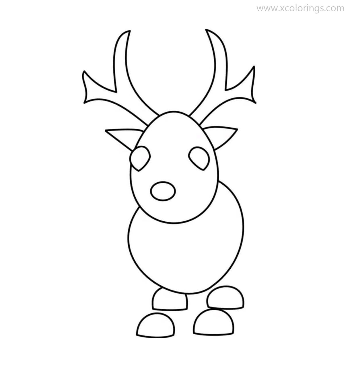 Roblox Adopt Me Coloring Pages Reindeer - XColorings.com