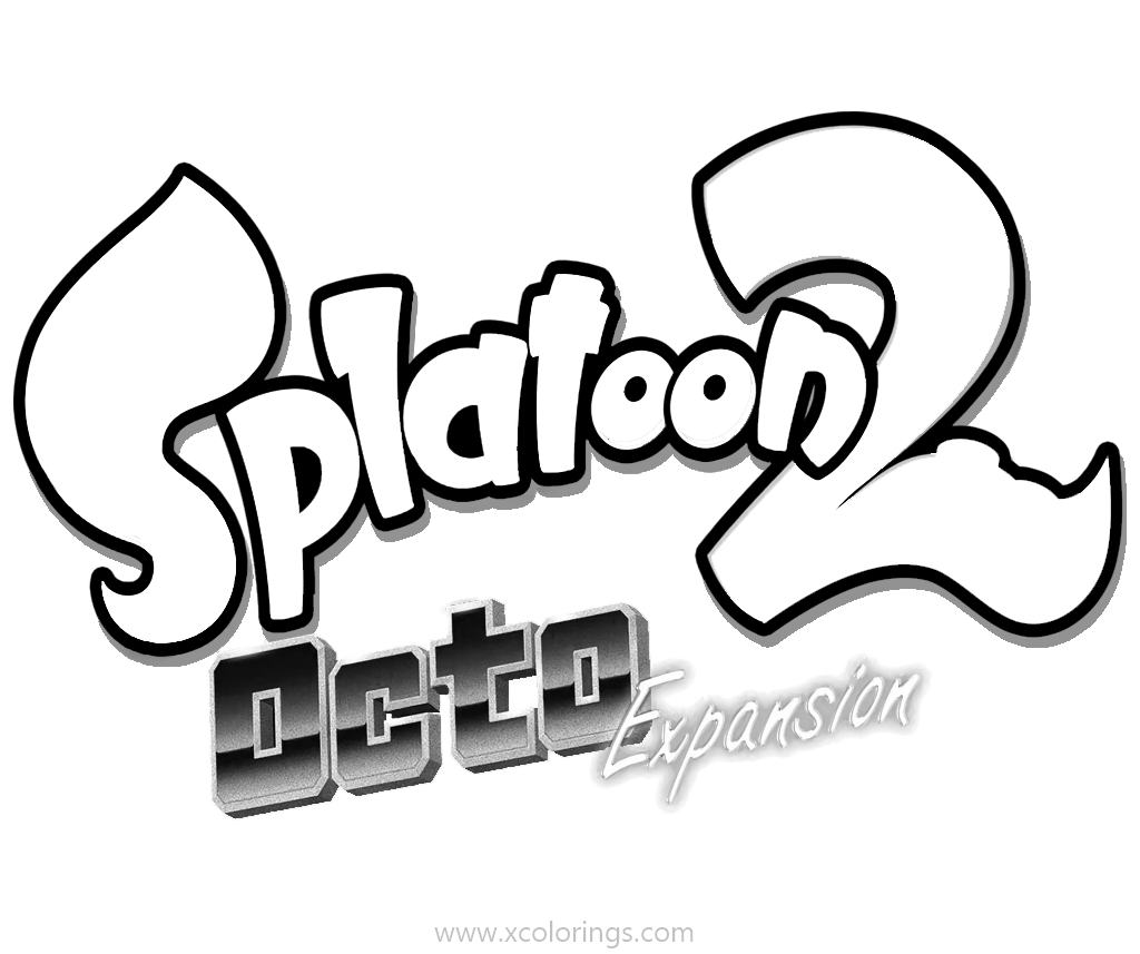 Free Splatoon Coloring Pages Logo Octo Expansion printable