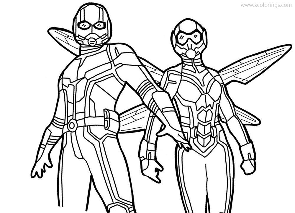 Superheroes Antman And The Wasp Coloring Pages Xcolorings Com