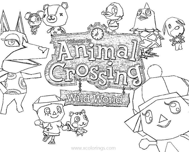 Free Video Game Animal Crossing Coloring Pages printable