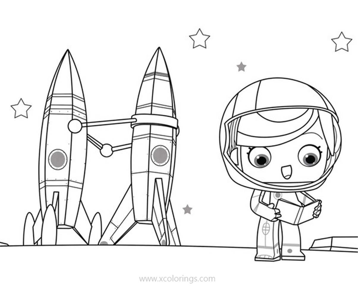 Yoko And His Friends Coloring Pages Maya And Rockets Xcolorings Com