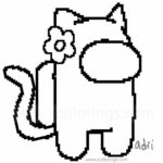 Among Us Coloring Pages Cat