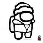 Among Us Coloring Pages Traitor Winter Hat