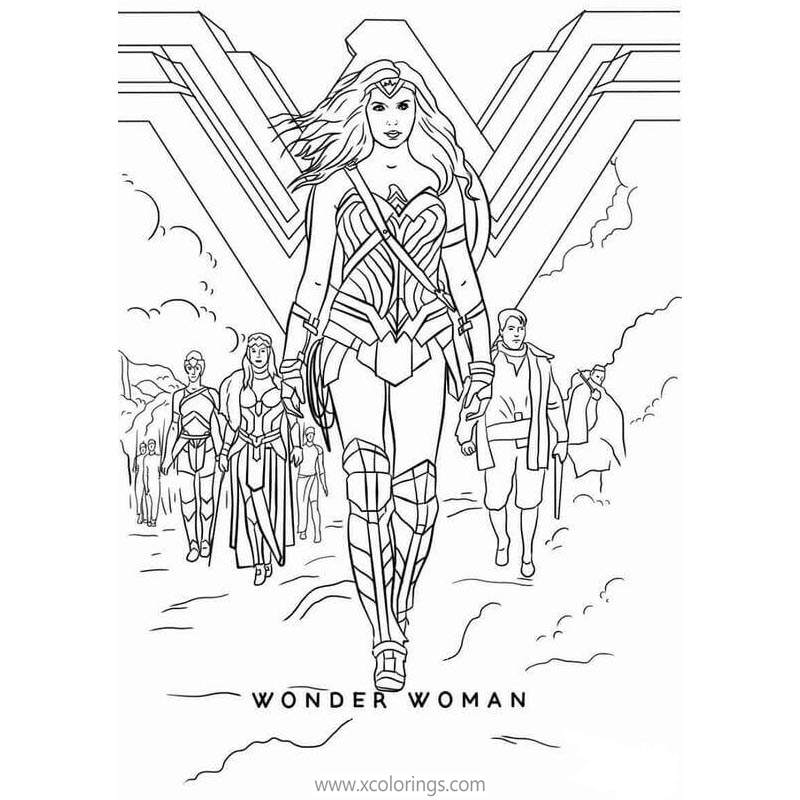 Animated Justice League Wonder Woman Coloring Pages Xcolorings Com