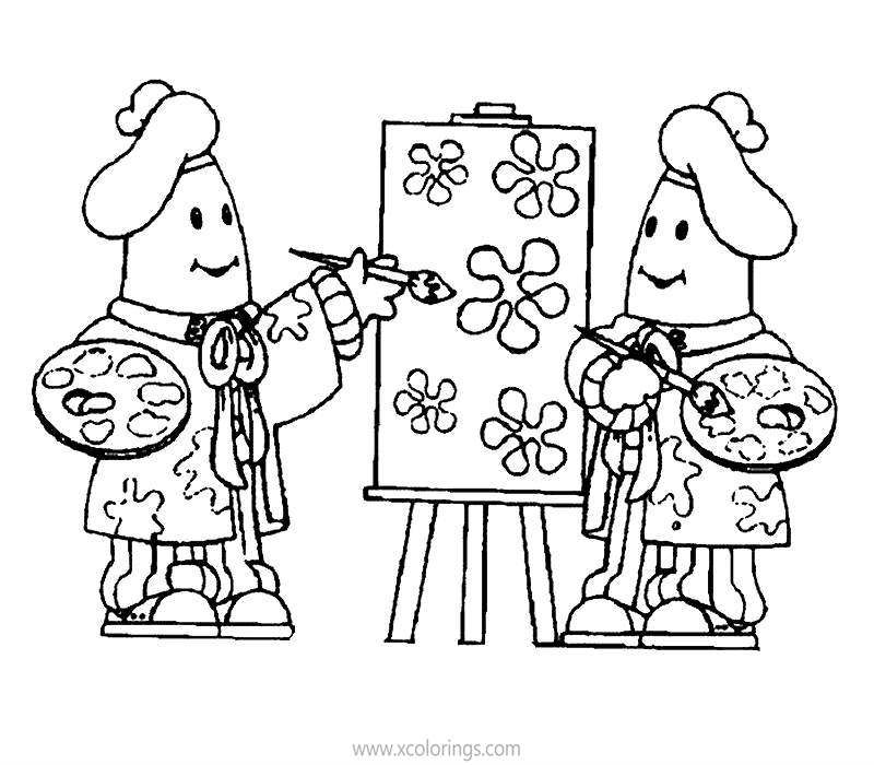 Free Bananas In Pajamas Coloring Pages B1 B2 are Painting printable