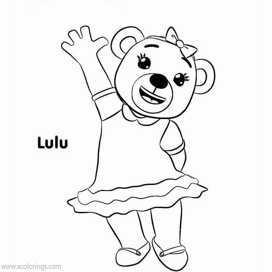 Free Bananas In Pajamas Coloring Pages Bear Lulu printable