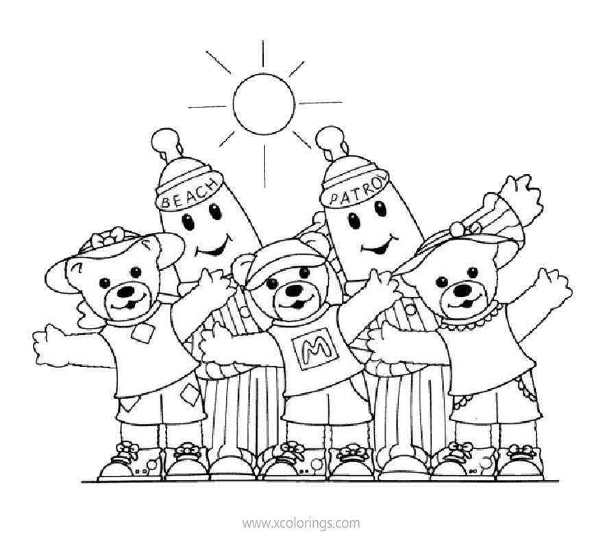 Free Bananas In Pajamas Coloring Pages Morgan Lulu and Amy printable