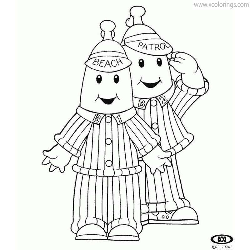 Free Bananas In Pyajamas Coloring Pages Patrol and Beach printable