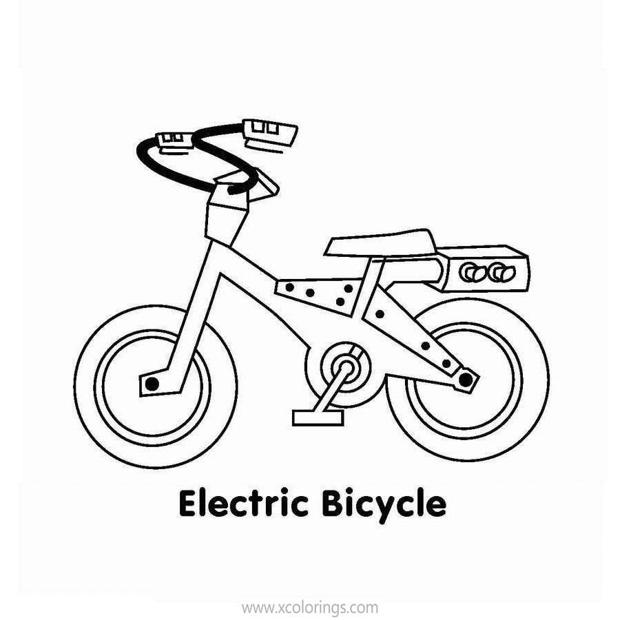 Free Bananas In Pyjamas Coloring Pages Electric Bicycle printable