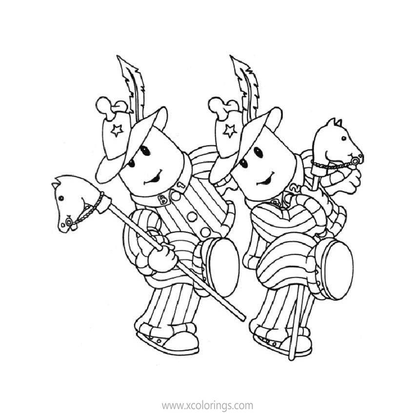 Free Bananas In Pyjamas Make a Performance Coloring Pages printable