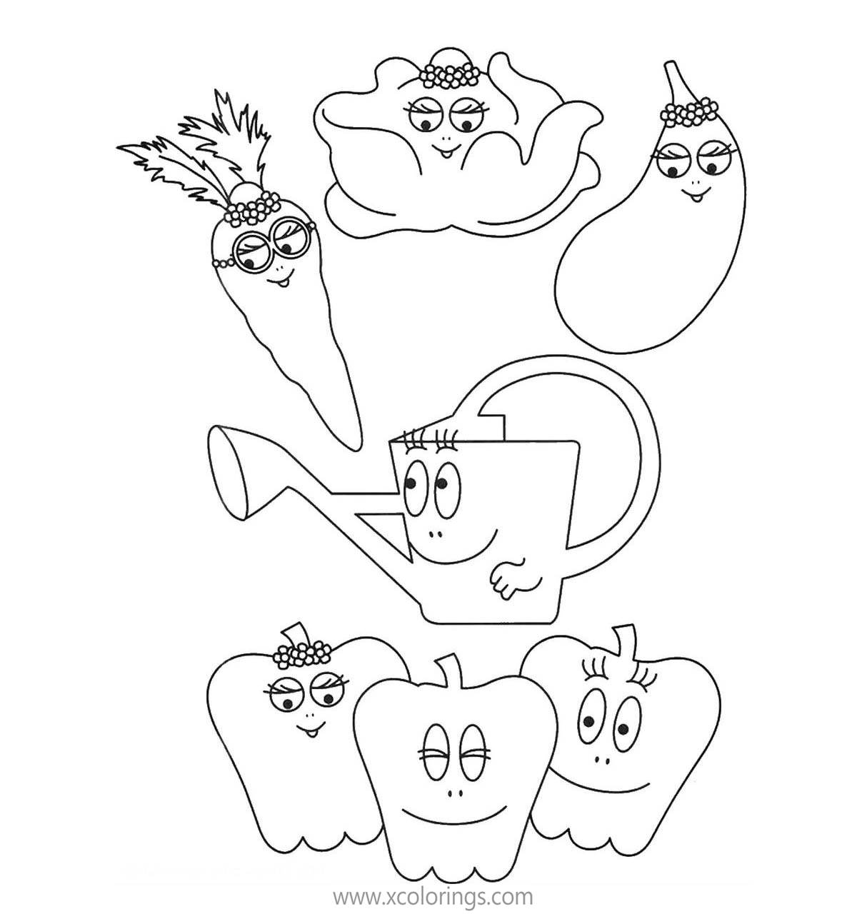 Barbapapa Coloring Pages Vegetables Xcolorings Com