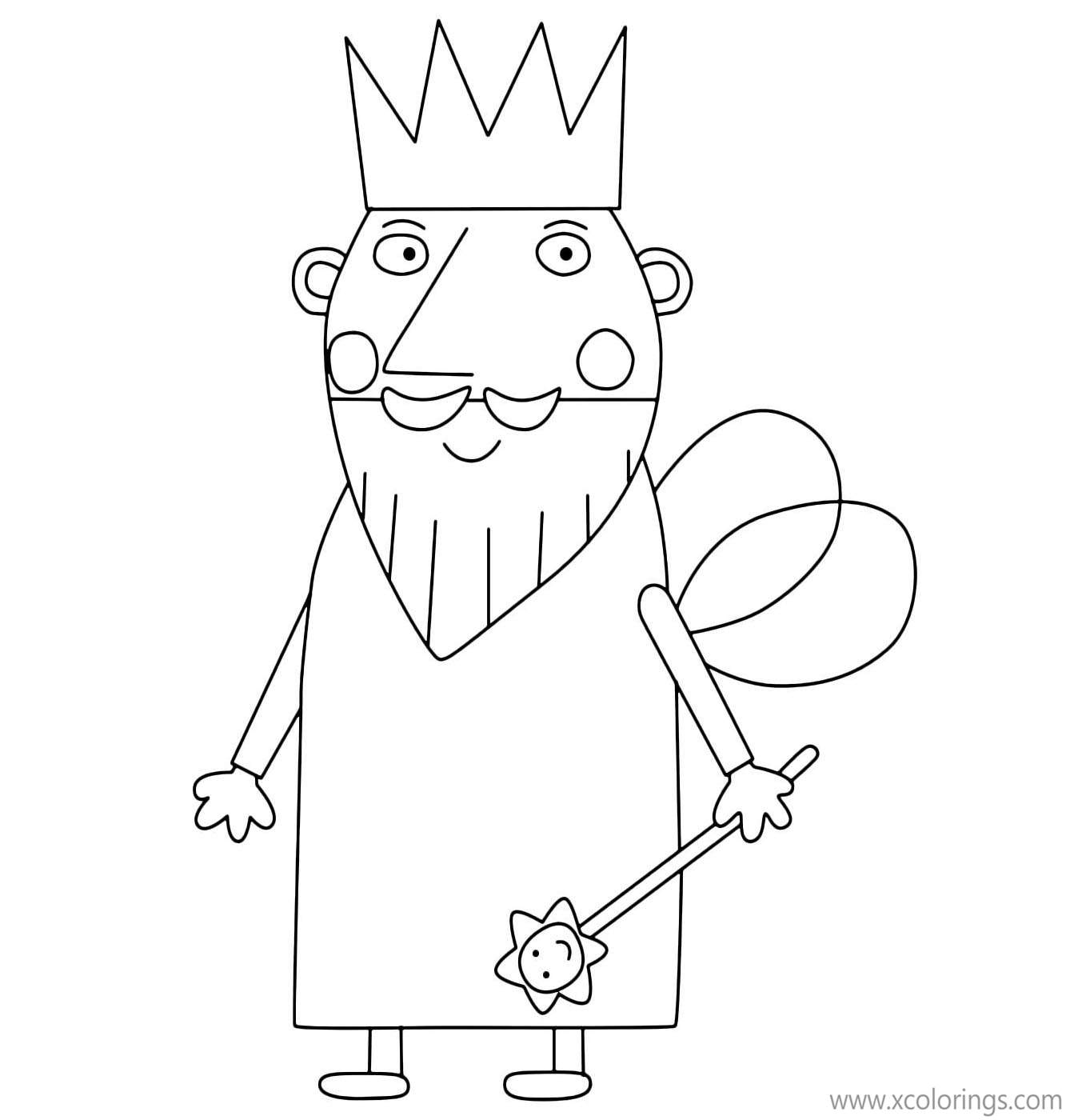 Ben And Holly Coloring Pages King Thistle Xcolorings Com