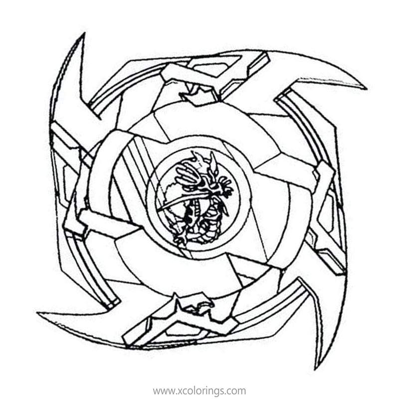 Free Beyblade Linear Coloring Pages printable