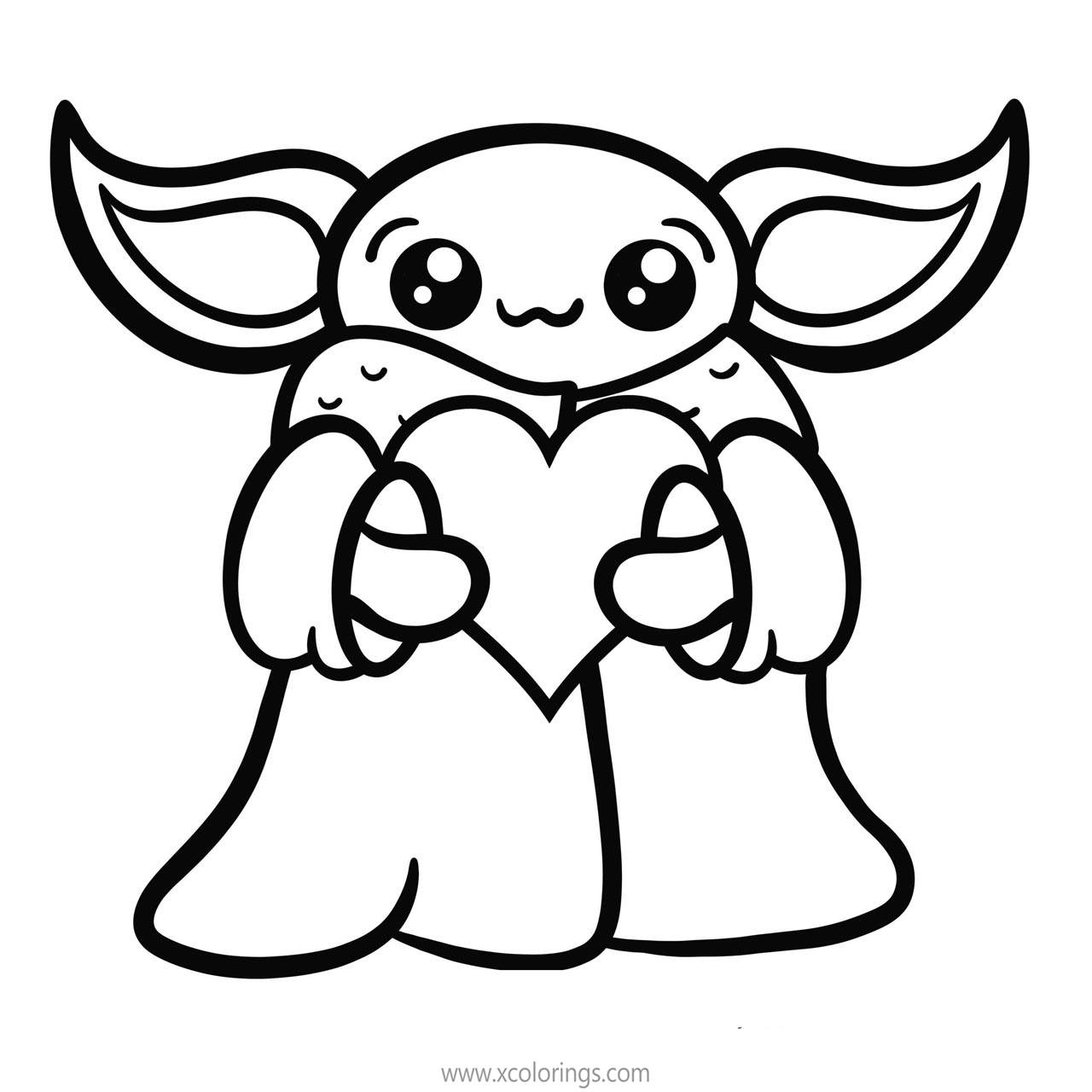 Cute Baby Yoda Coloring Pages By Fishbiscuit5 Xcolorings Com