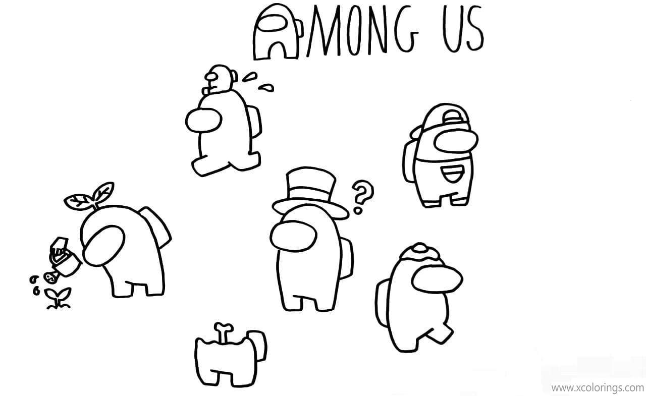 Game Among Us Coloring Pages - XColorings.com