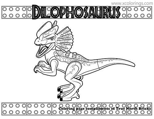 Lego Jurassic World Coloring Pages Dilophosaurus Xcolorings Com