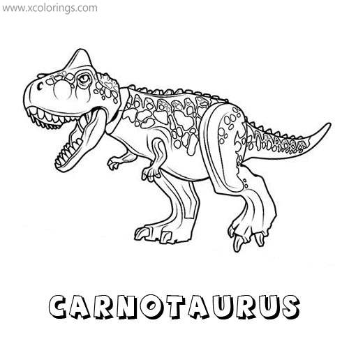 Lego Jurassic World Dinosaur Coloring Pages Carnotaurus Xcolorings Com