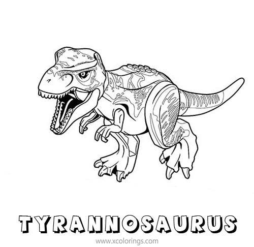 Lego Jurassic World Tyrannosaurus Coloring Pages Xcolorings Com