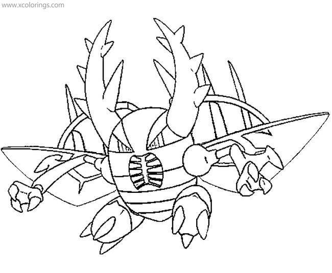 - Mega Pokemon Coloring Pages Mega Pinsir - XColorings.com