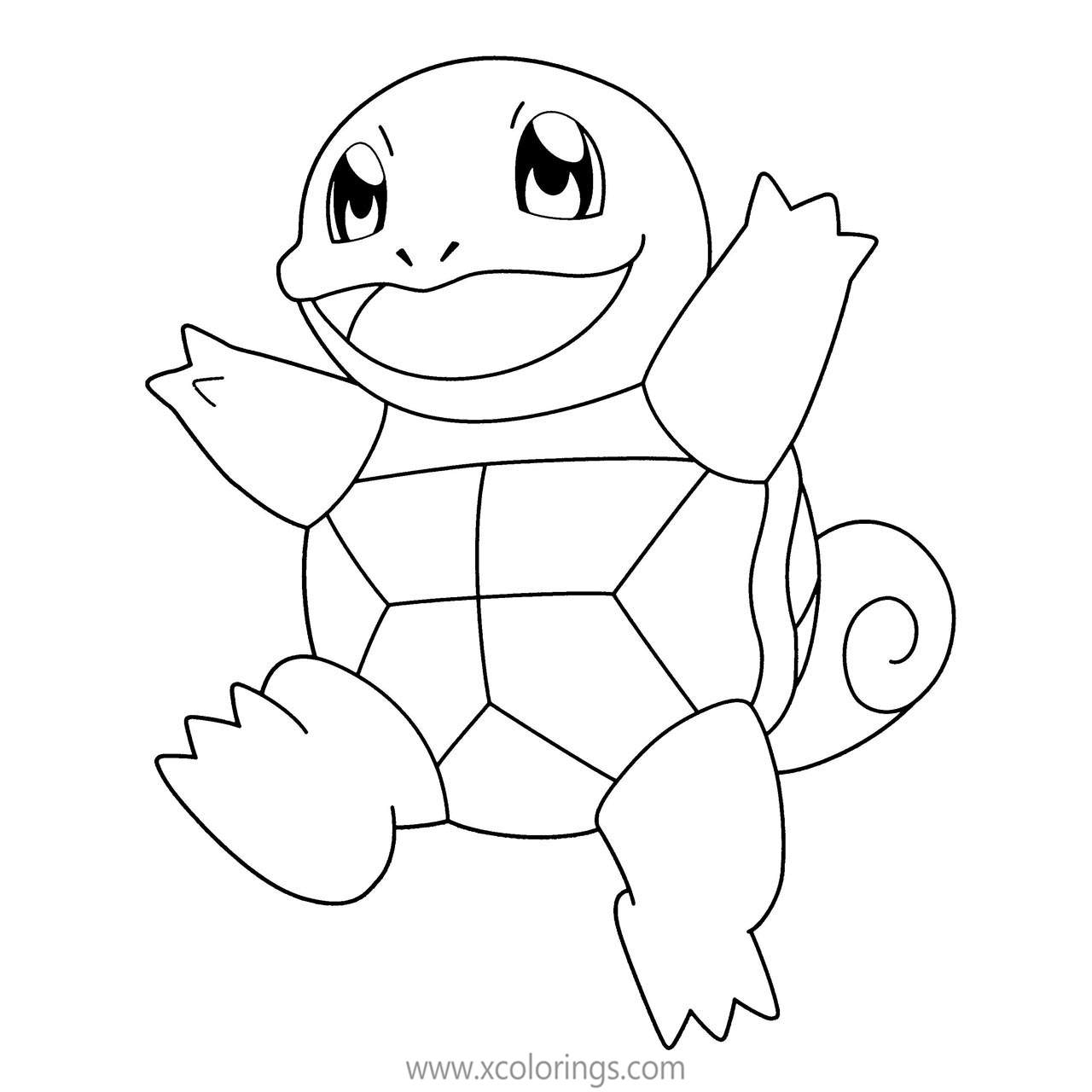 Mega Pokemon Squirtle Coloring Pages Xcolorings Com