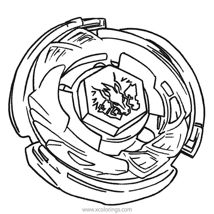Pegasus Beyblade Coloring Pages Xcolorings Com