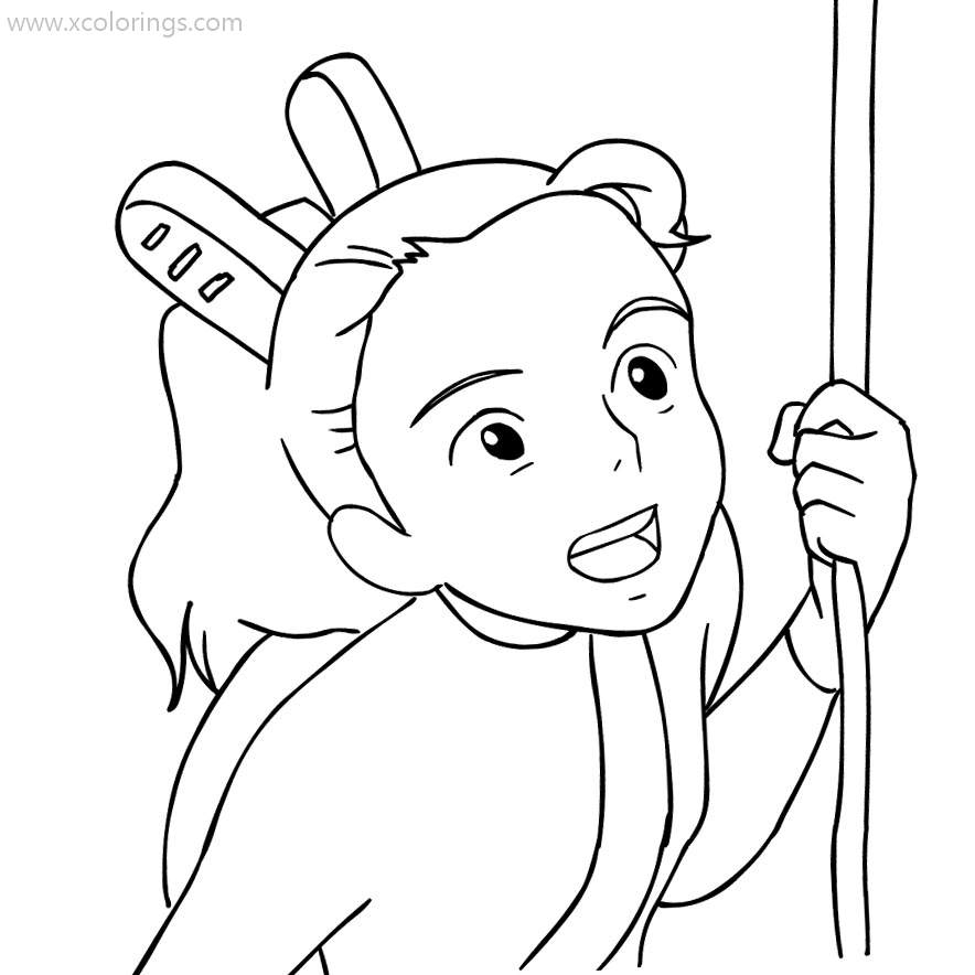 The Secret World Of Arrietty Coloring Pages From Studio Ghibli Film Xcolorings Com