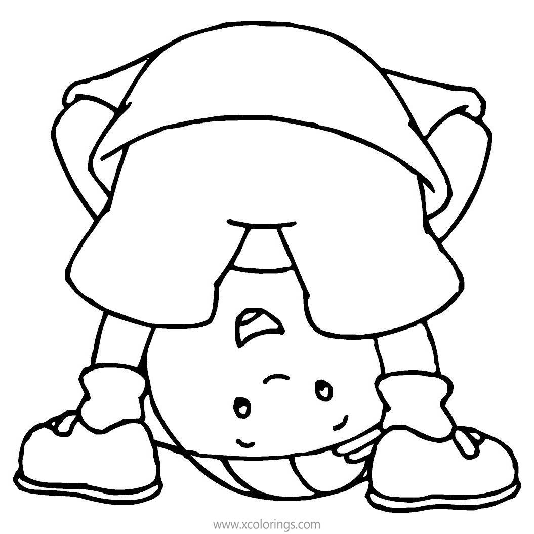 Caillou Stretching His Body Coloring Pages Xcolorings Com