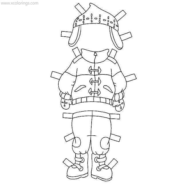 Caillou Winter Clothes Coloring Pages Xcolorings Com