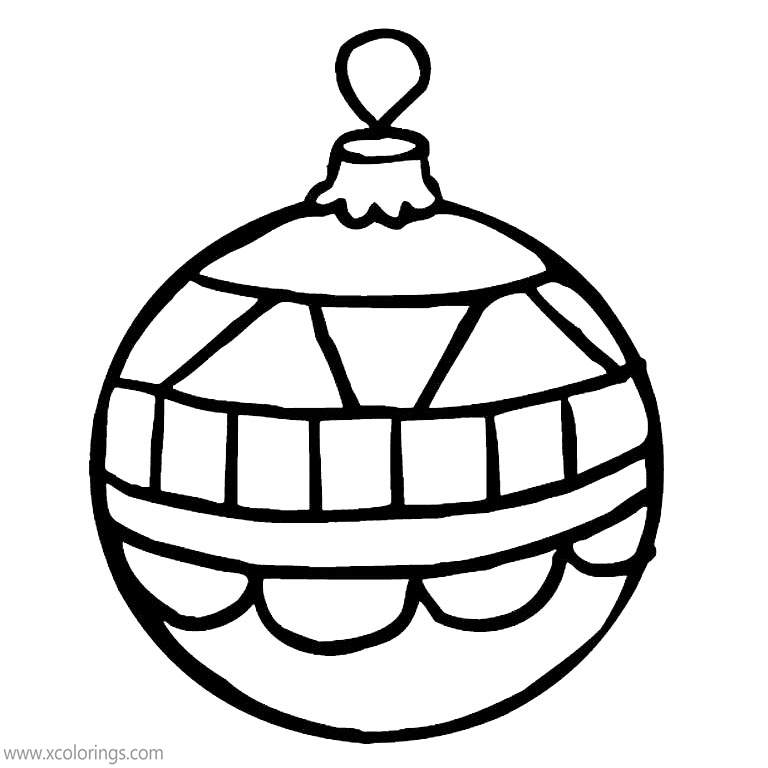 Christmas Ornament Coloring Pages Easy For Kids Xcolorings Com