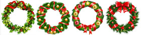 Christmas Wreath Coloring Pages Collection