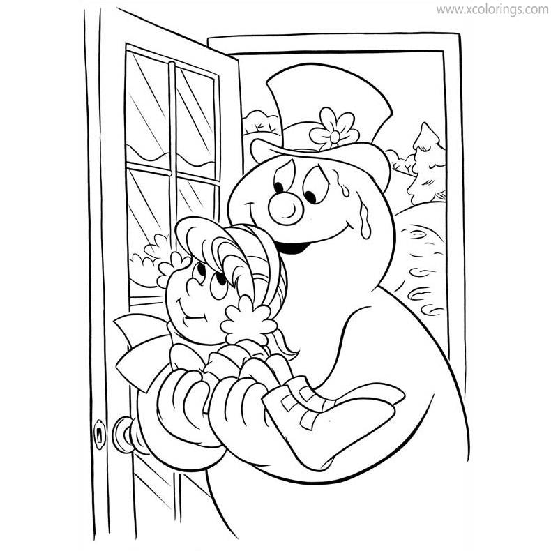 Free Frosty the Snowman Saved Karen Coloring Pages printable