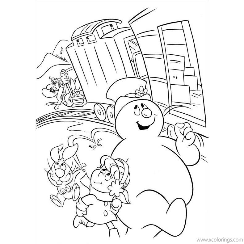 Free Frosty the Snowman and Karen Coloring Pages printable