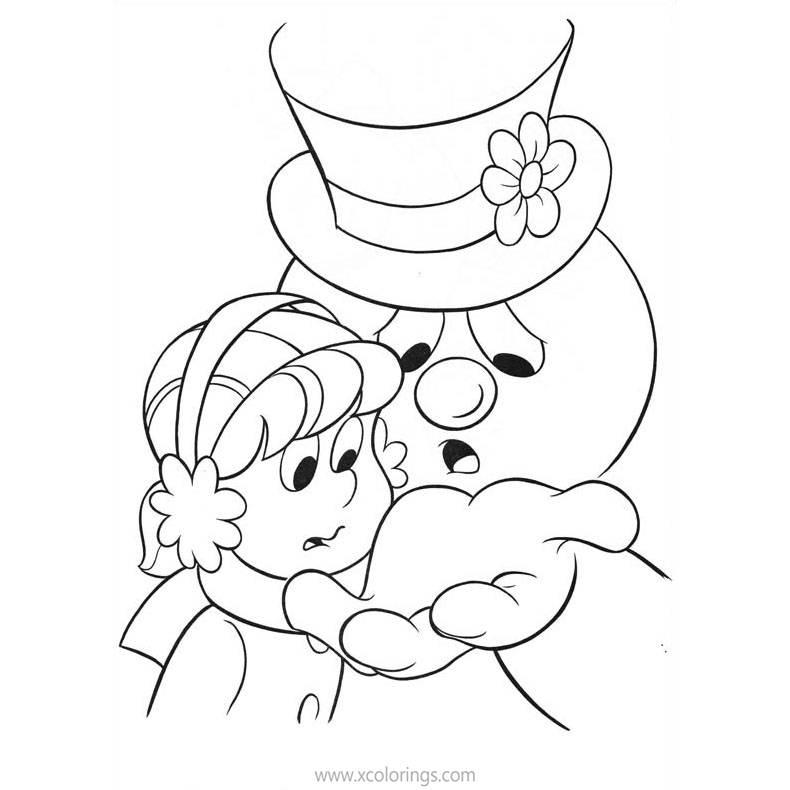 Free Frosty the Snowman is Upset Coloring Pages printable