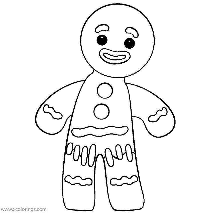 Gingerbread Man Coloring Pages For Boy - XColorings.com