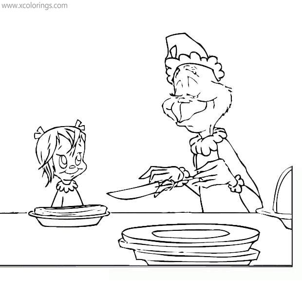Grinch Coloring Pages Little Cindy Lou Who Xcolorings Com