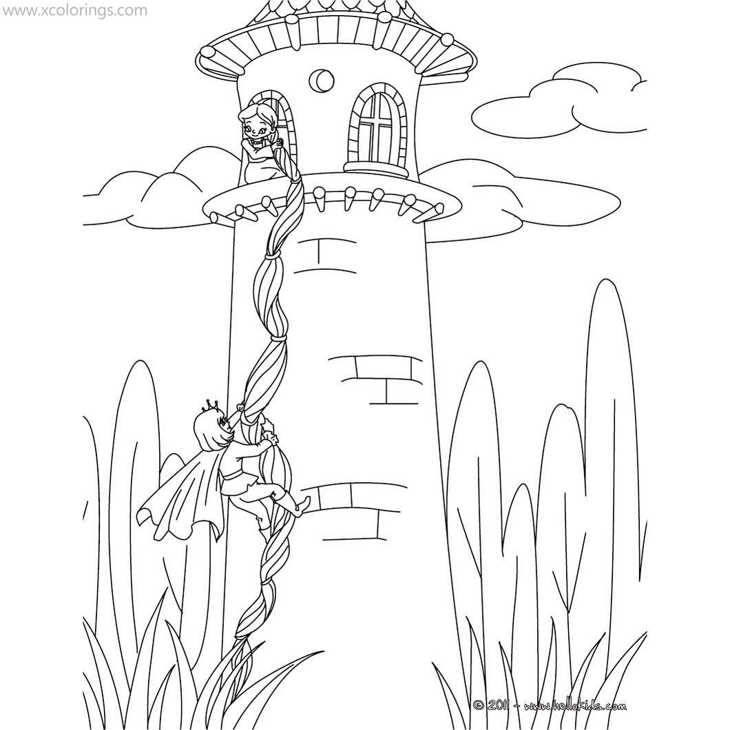 Rapunzel In The Tower Coloring Pages Xcolorings Com