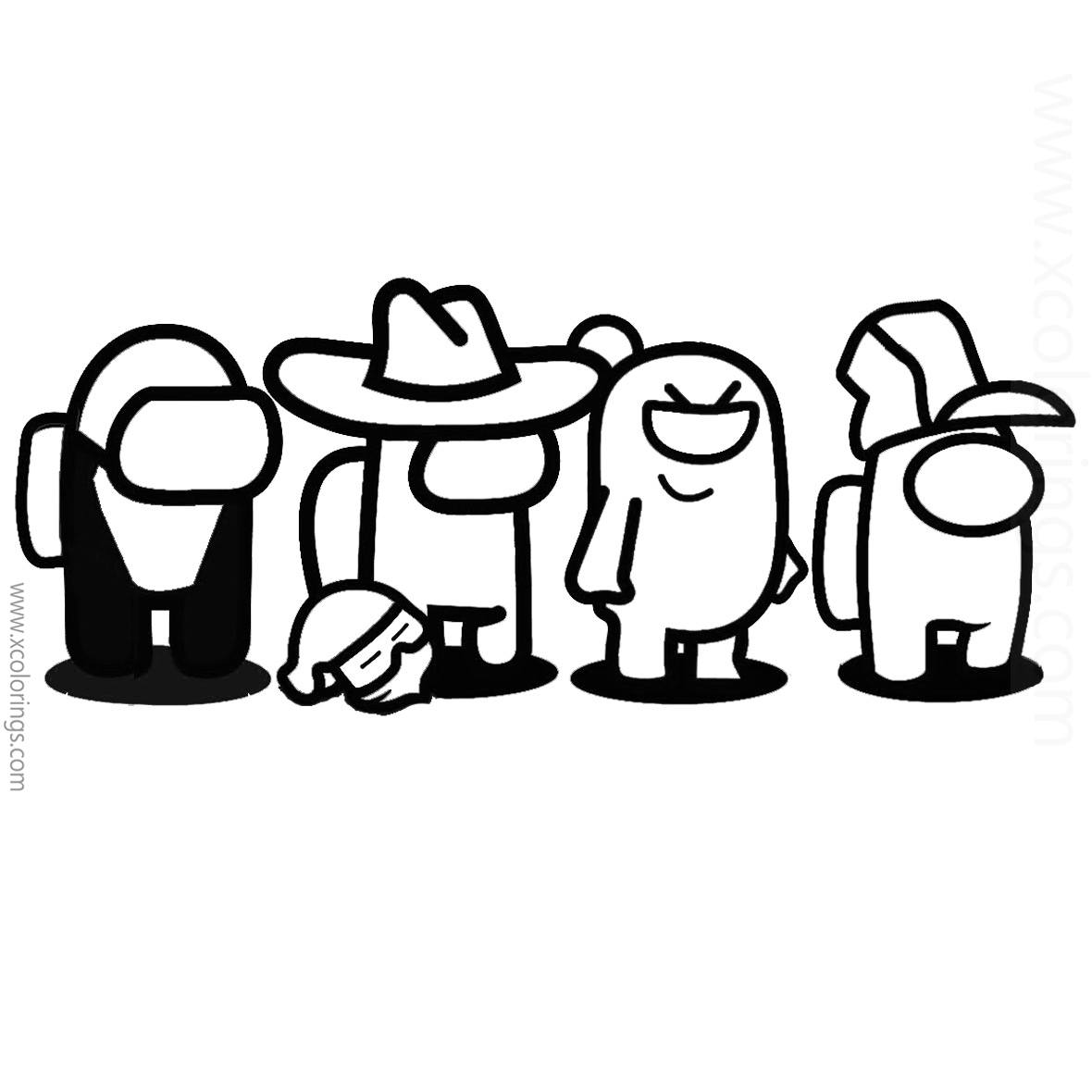 Among Us Coloring Pages Characters Skins