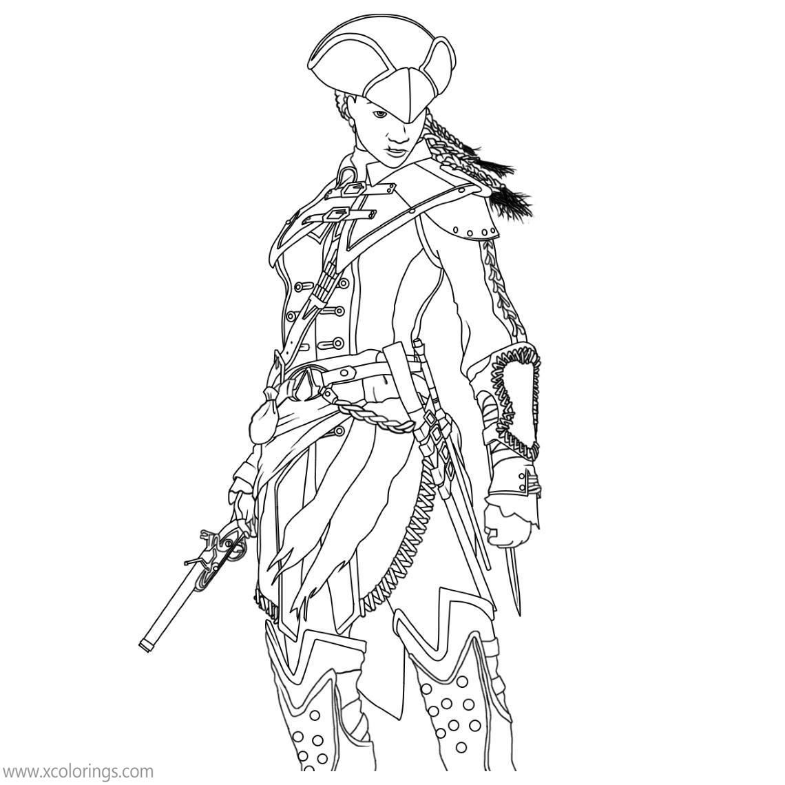 Assassin S Creed Coloring Pages Aveline De Grandpre Xcolorings Com