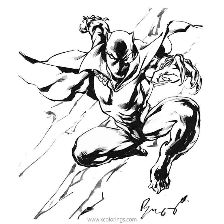 Free Black Panther Fanart Coloring Pages printable