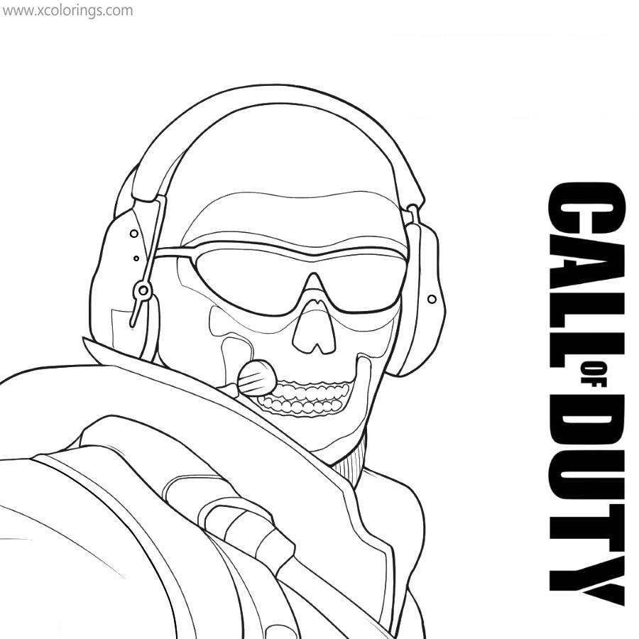 Call Of Duty Coloring Pages Modern Warfare Ghost Xcolorings Com