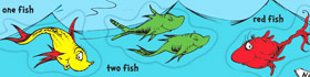Dr. Seuss One Fish Two Fish Coloring Pages Collection