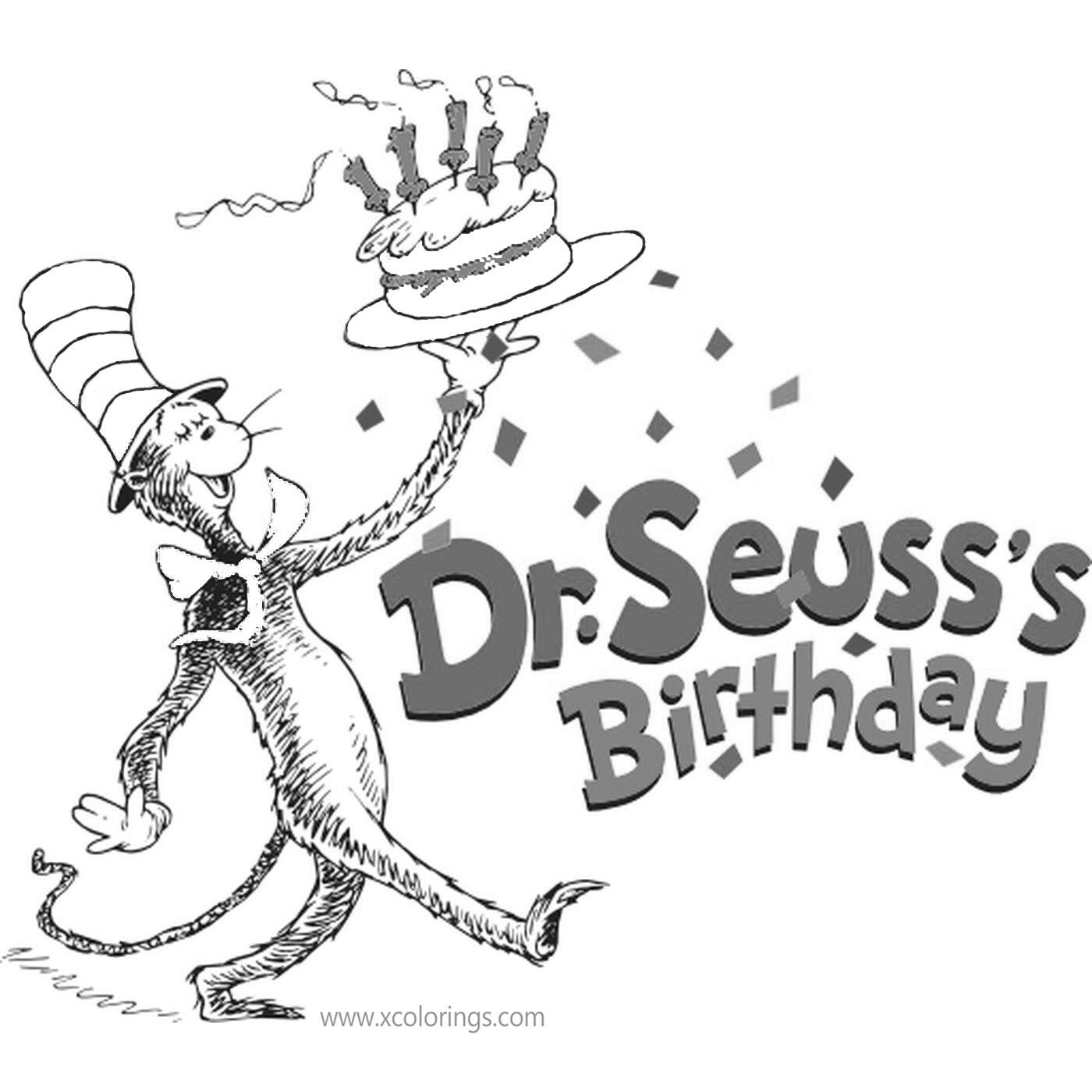 Happy Birthday Dr Seuss Coloring Pages Free To Print Xcolorings Com