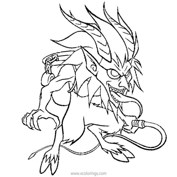 Free Krampus for Christmas Coloring Pages printable